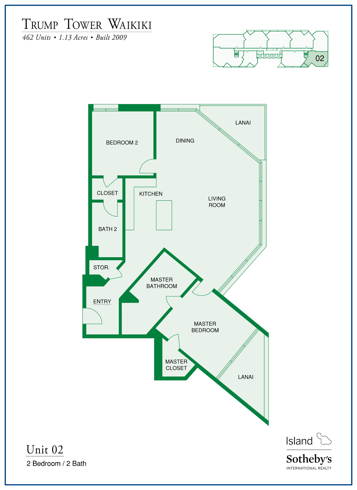 Trump Tower Waikiki Floor Plan stack 2