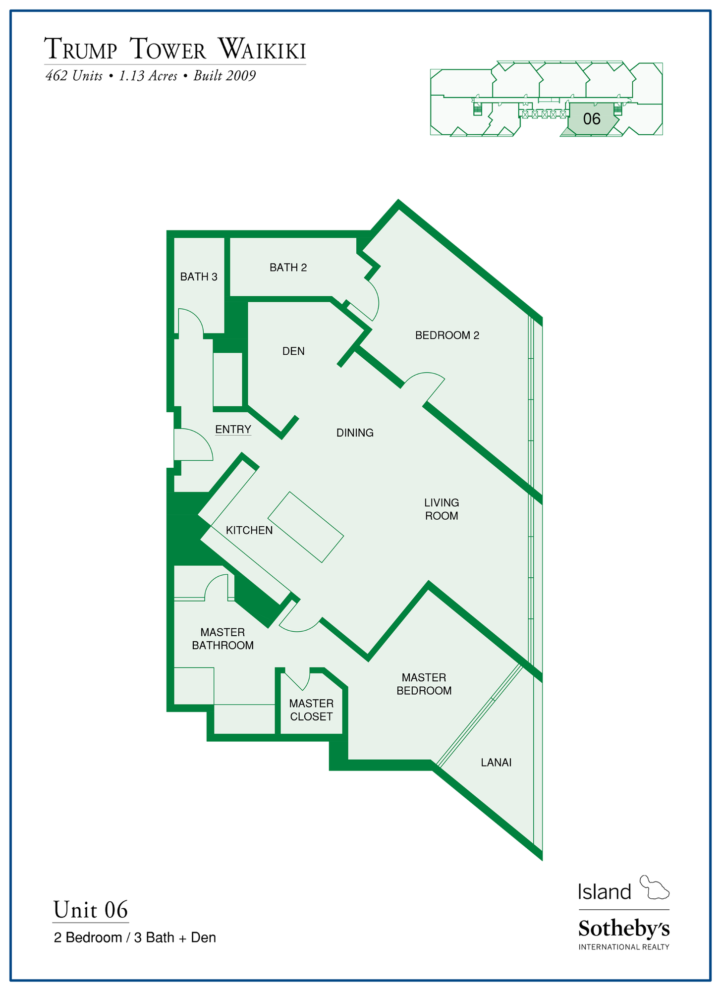 Trump Tower Waikiki Floor Plan Stack 6
