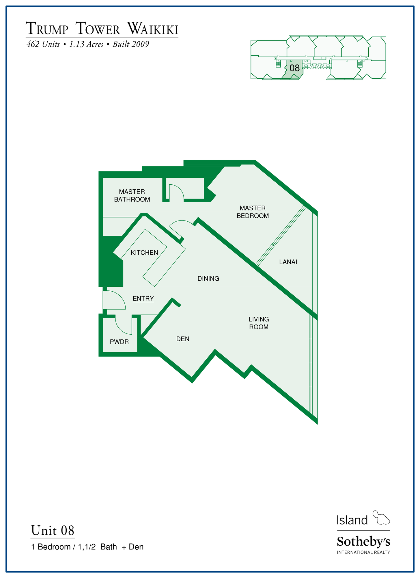 Trump Tower Waikiki Floor Plan Stack 08