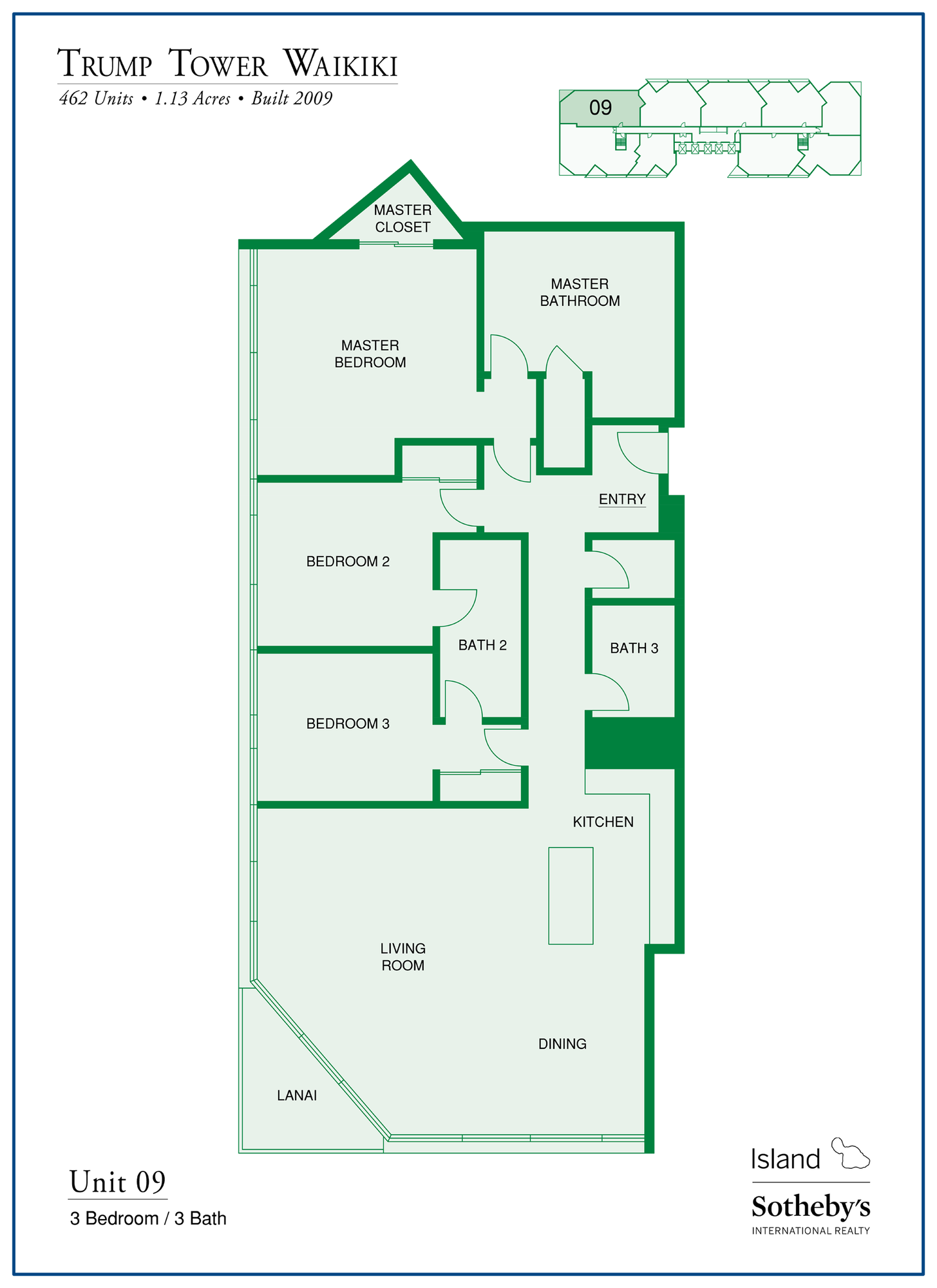 2019 Trump Tower Waikiki Floor Plan