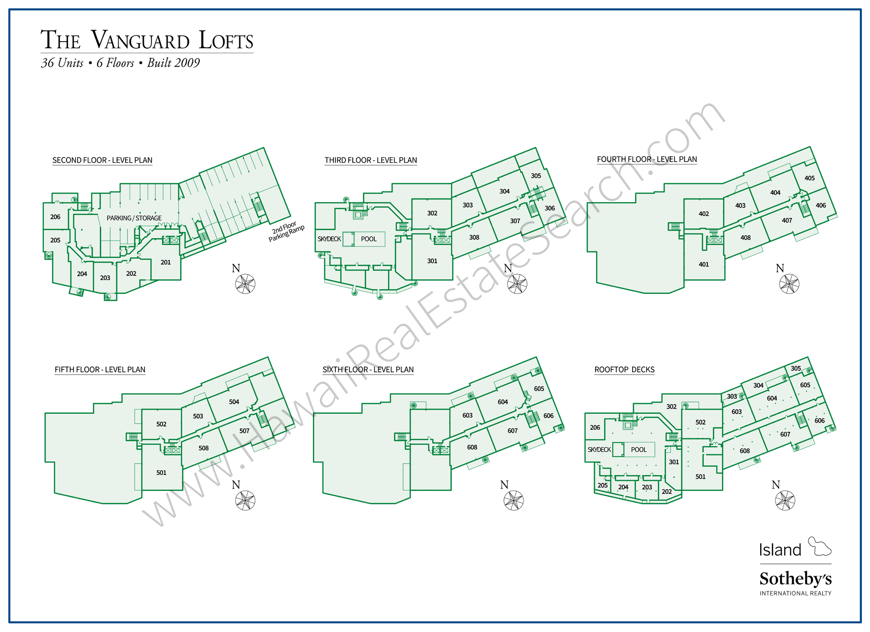 Vanguard Lofts Property Map