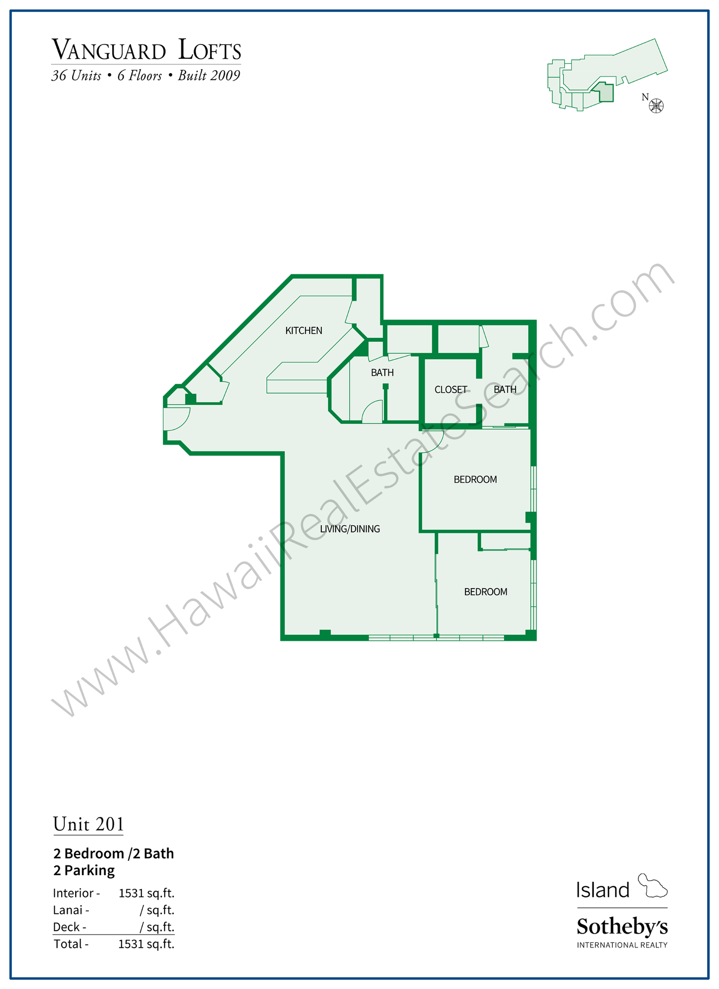 vanguard lofts floor plan unit 201