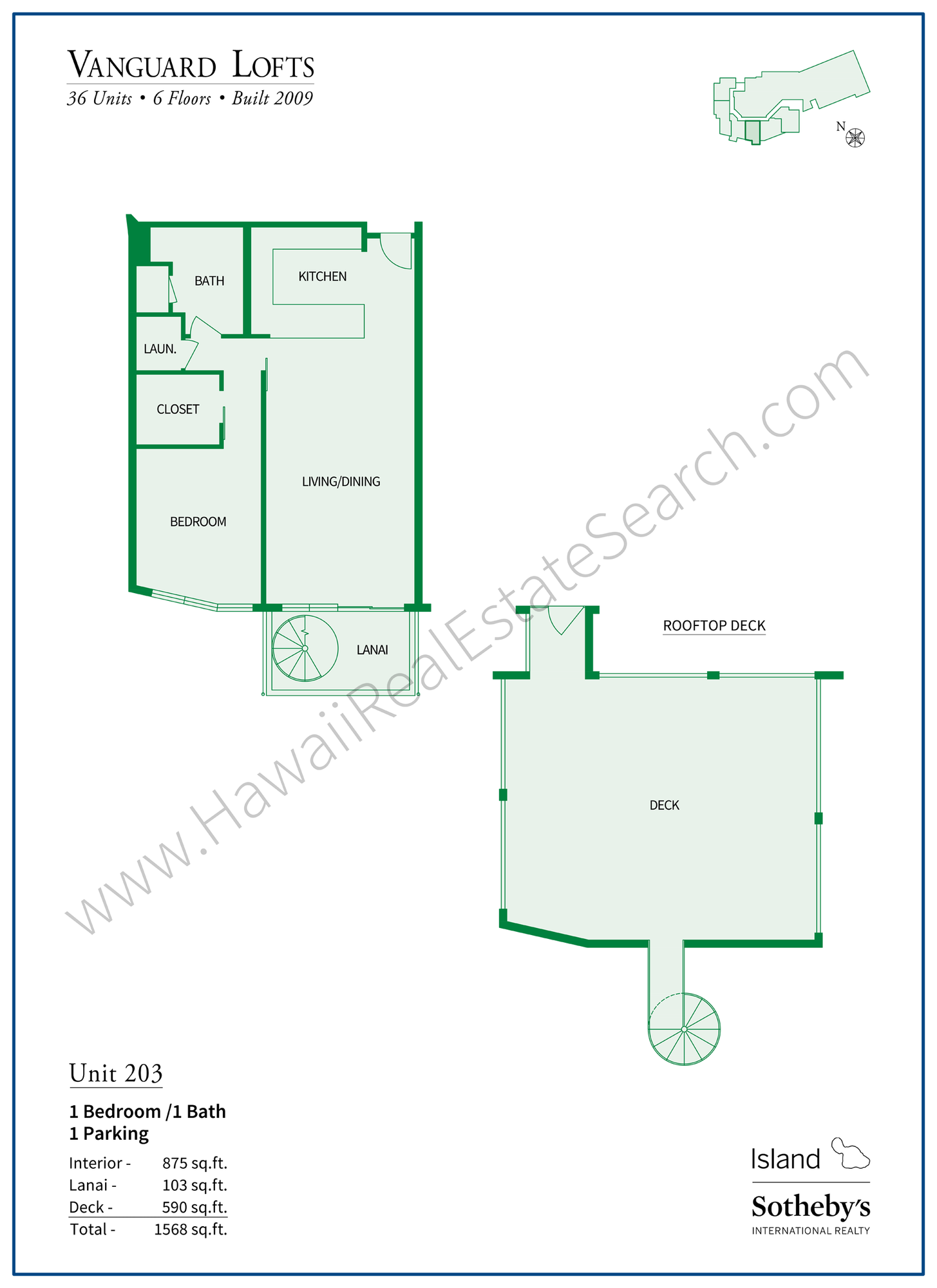 vanguard lofts floor plan 203