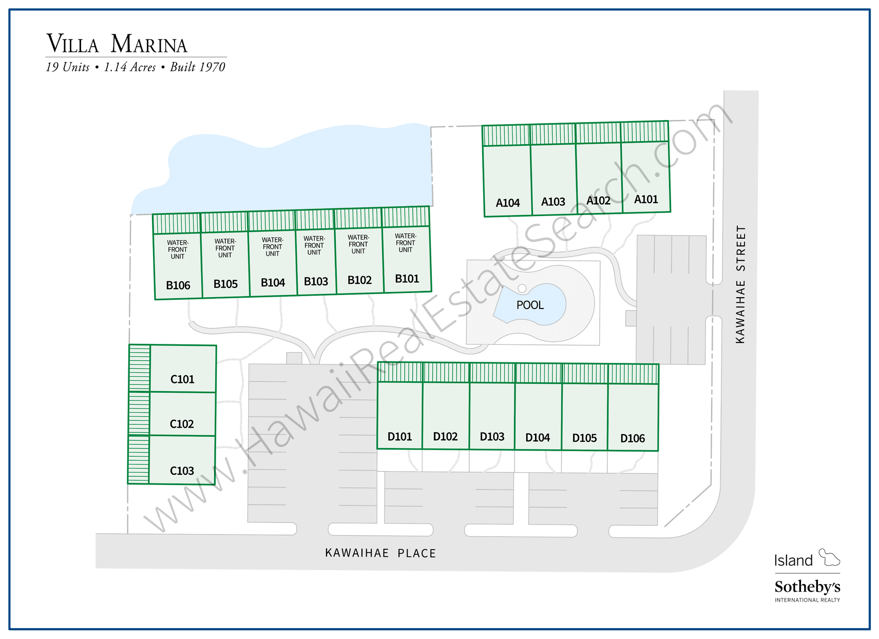 Villa Marina Property Map
