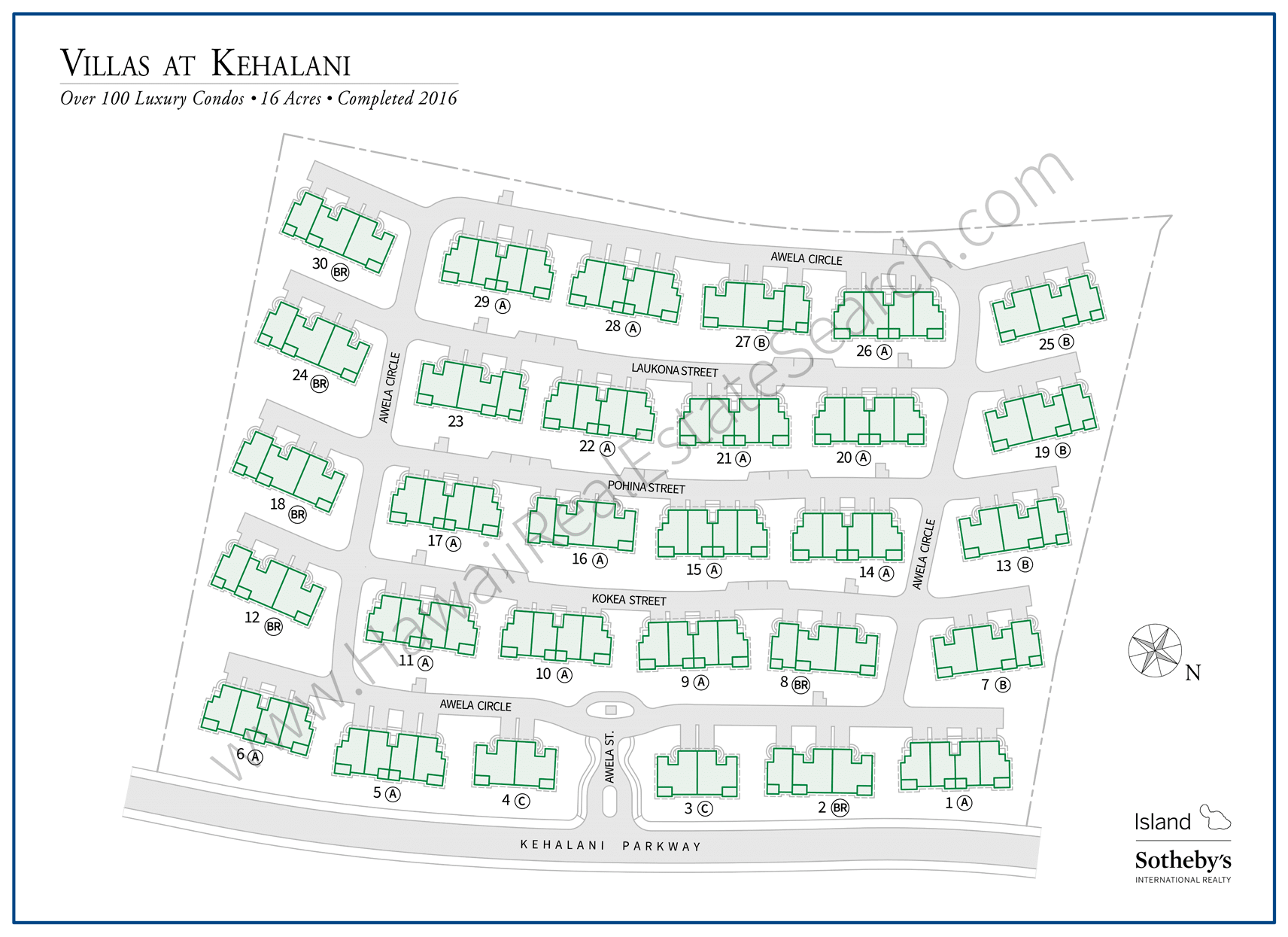 Villas at Kehalani Map 2019