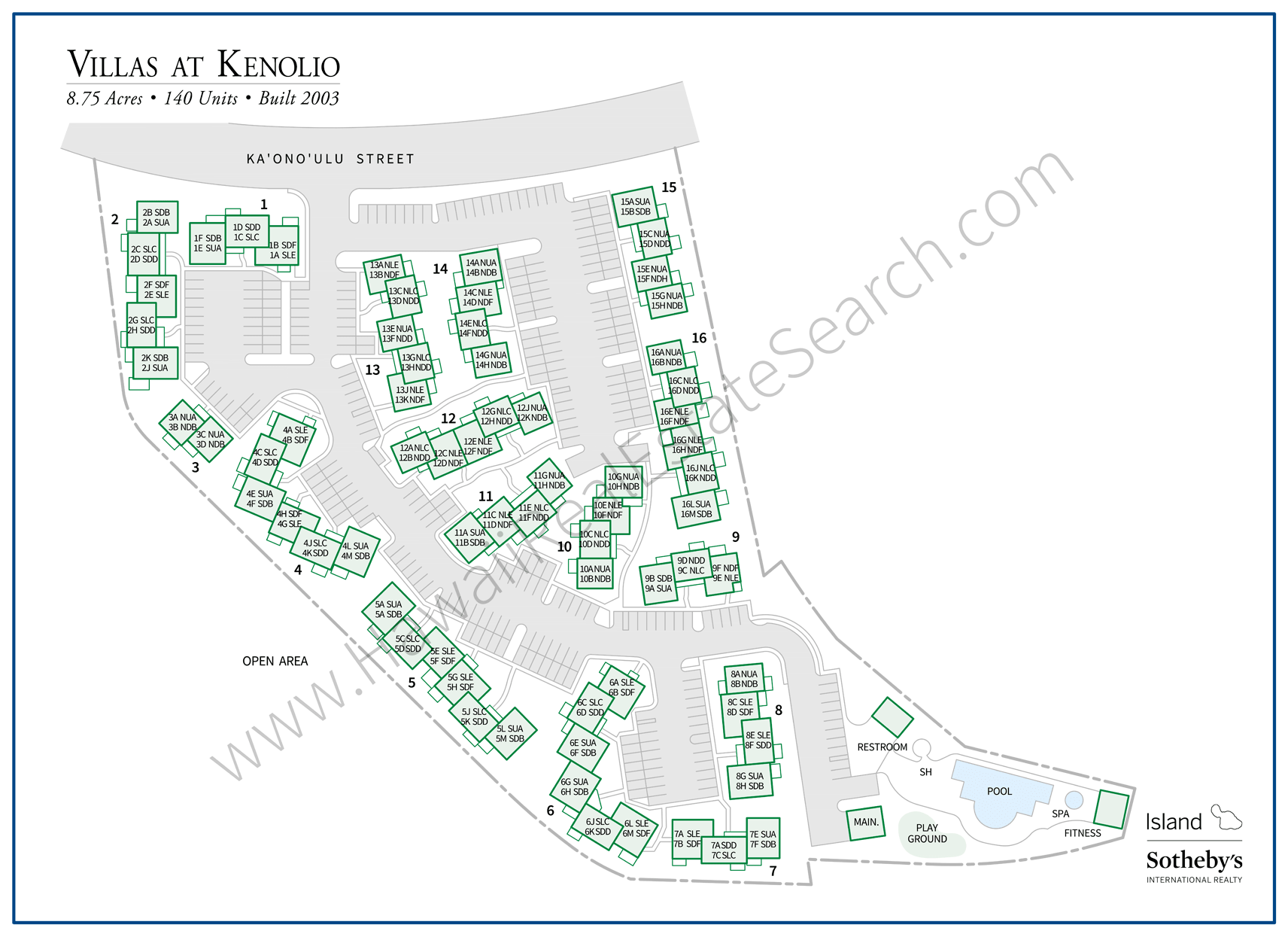 Map of Villas at Kenolio