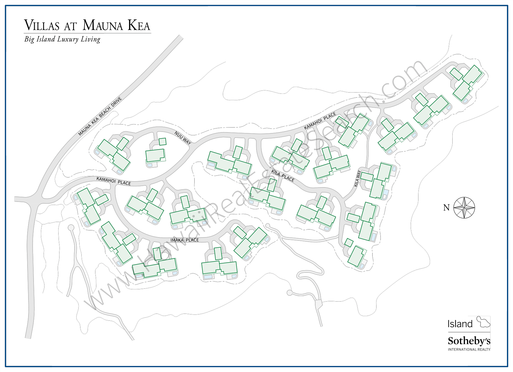 Villas at Mauna Kea Property Map