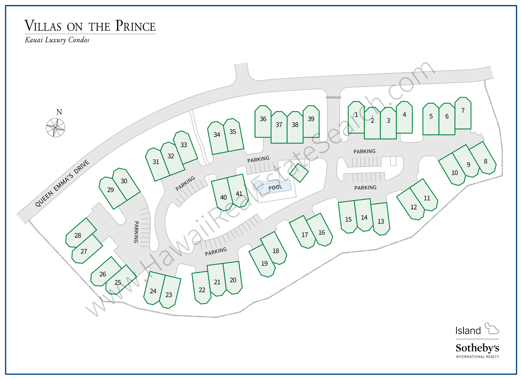 Villas on the Prince Property Map