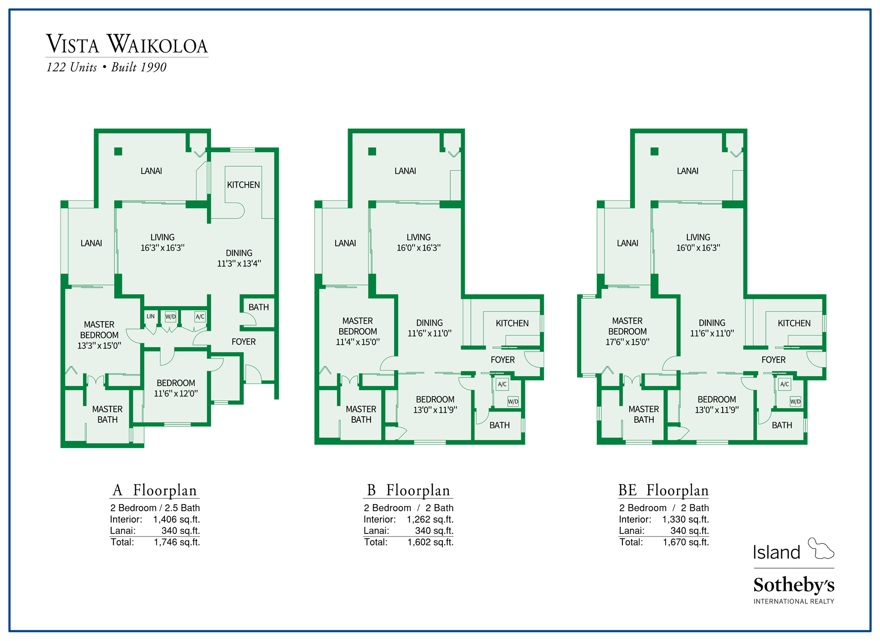 vista waikoloa floor plans
