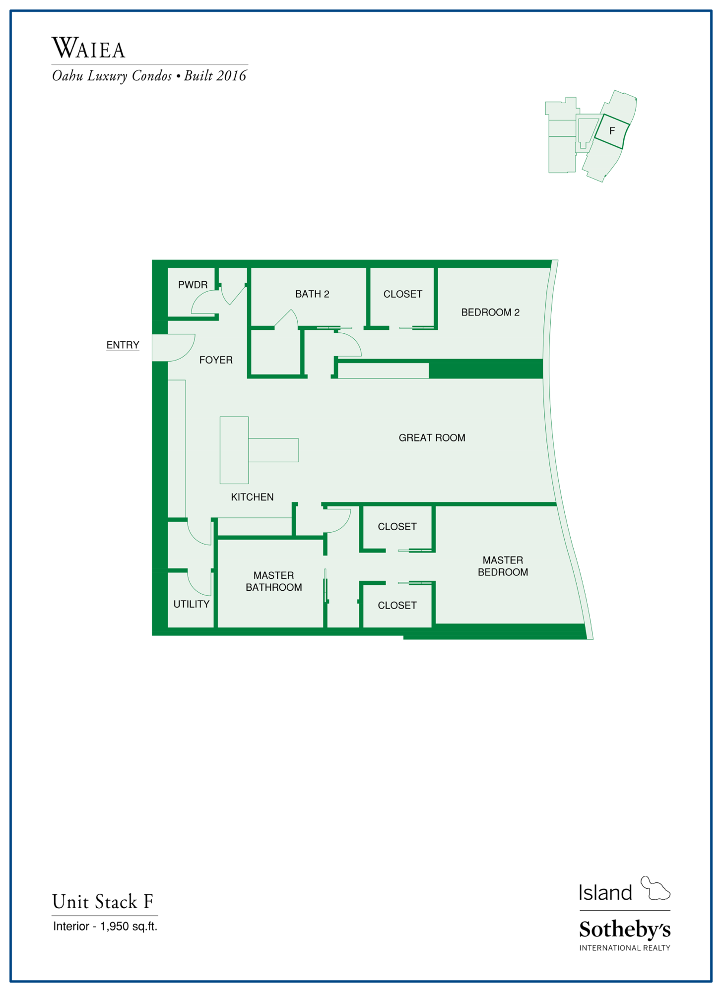waiea floor plan unit F