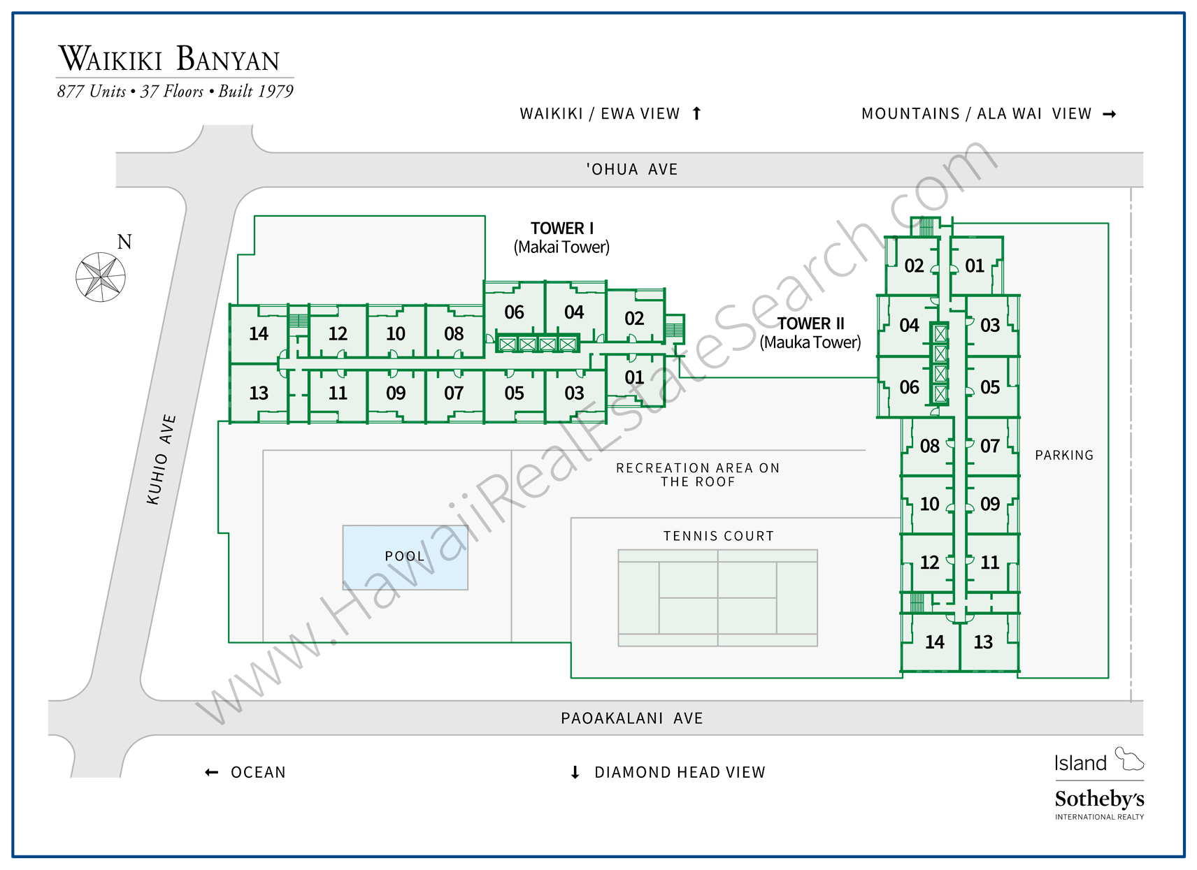 Waikiki Banyan Map Updated