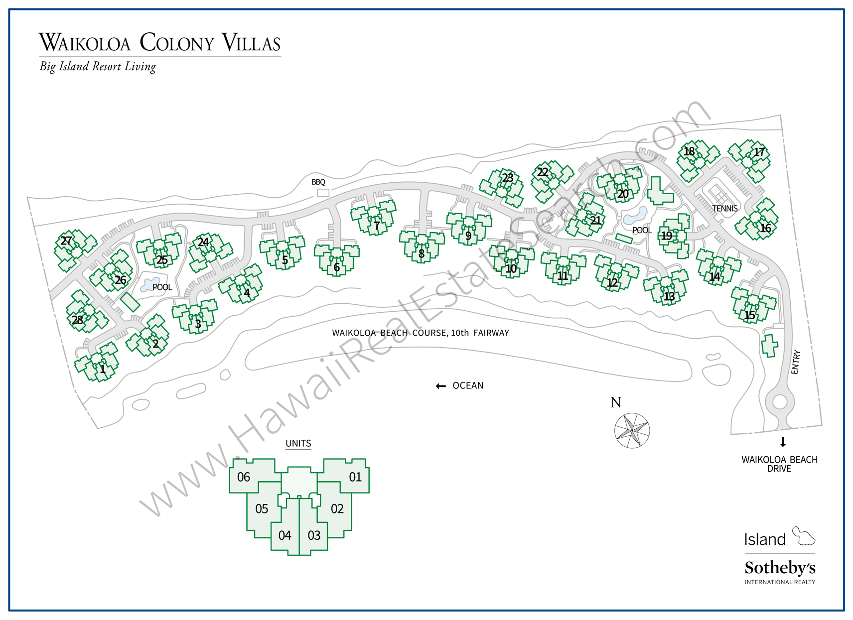 Waikoloa Colony Villas Property Map