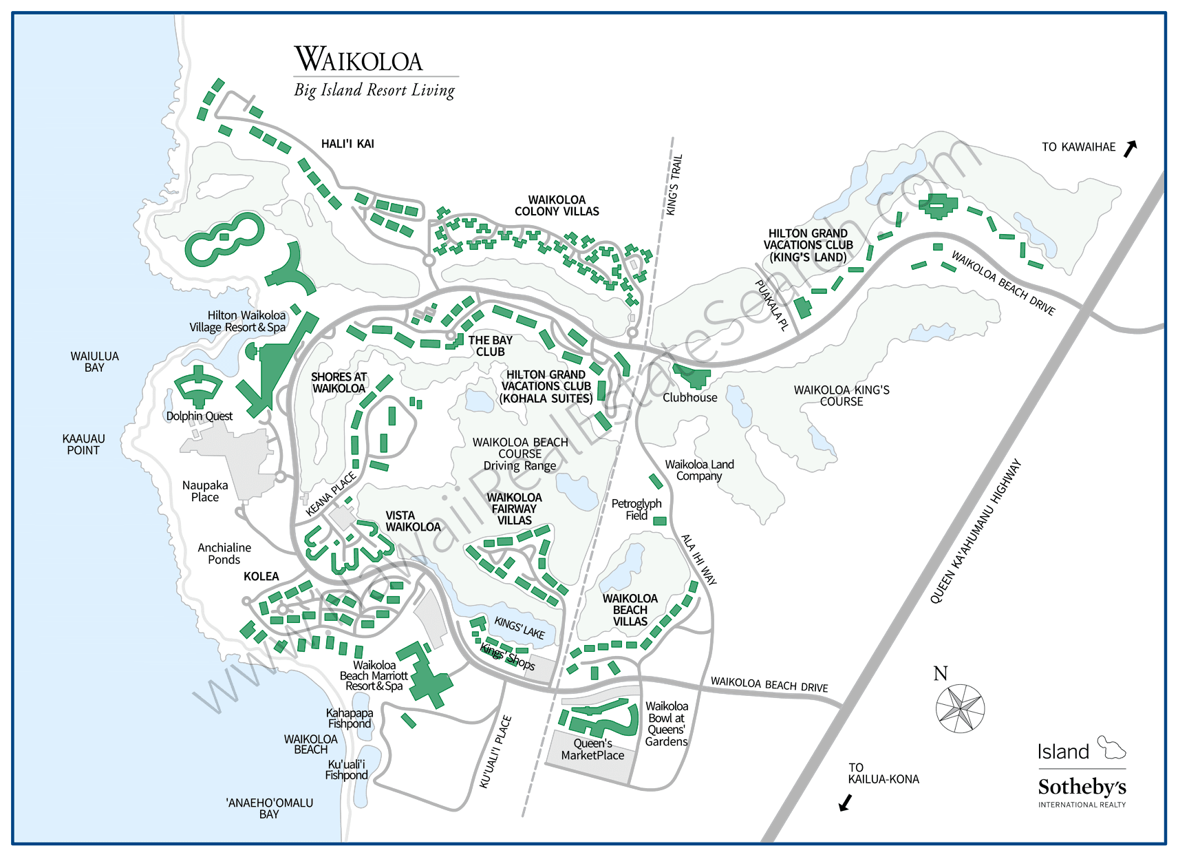 Waikoloa Resort Map Updated 2018