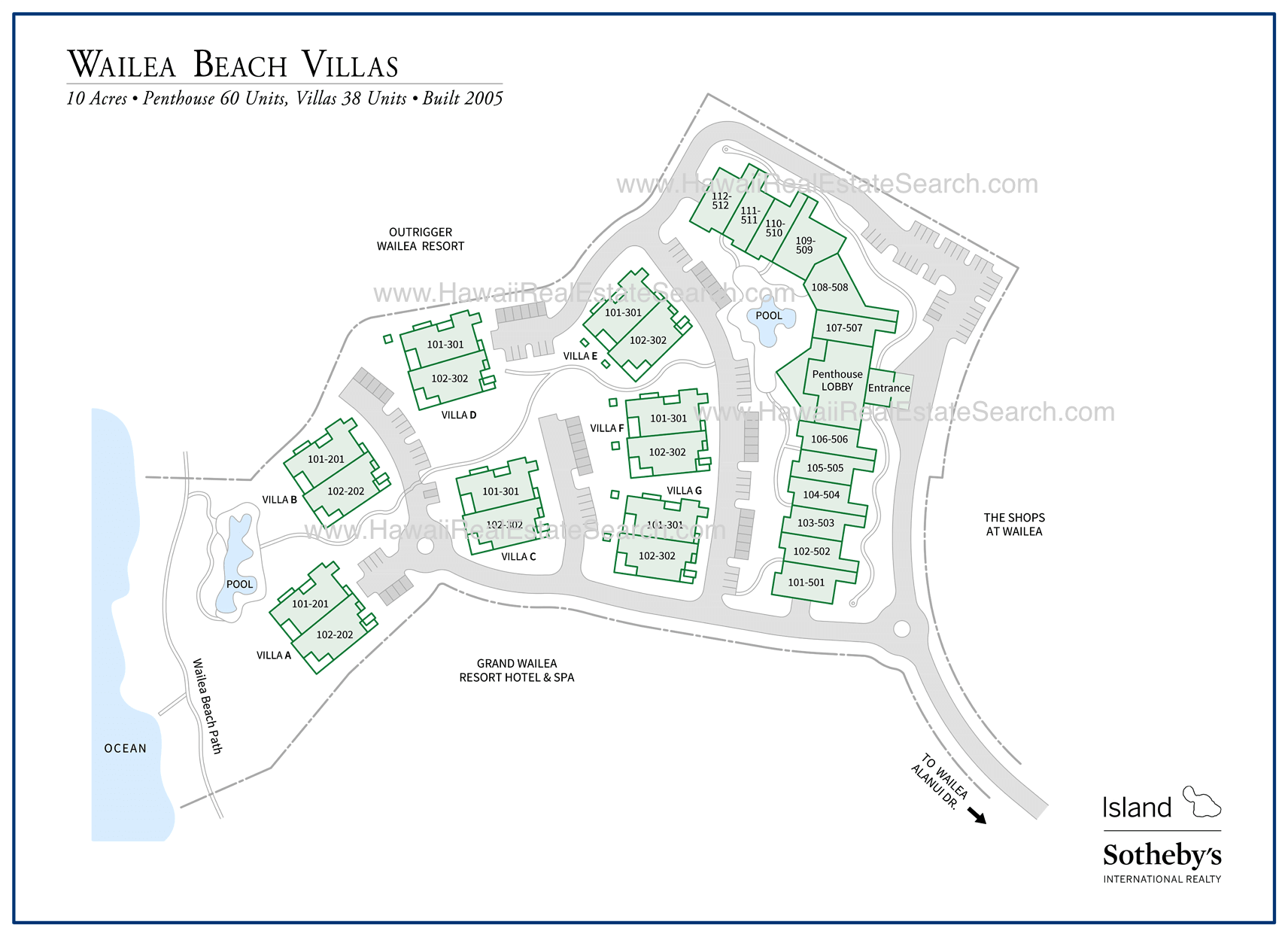 Wailea Beach Villas Map