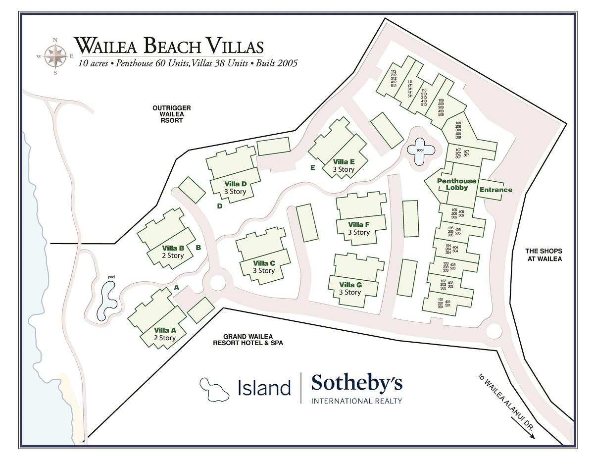 Wailea Hotels Map Wailea Beach Villas Map