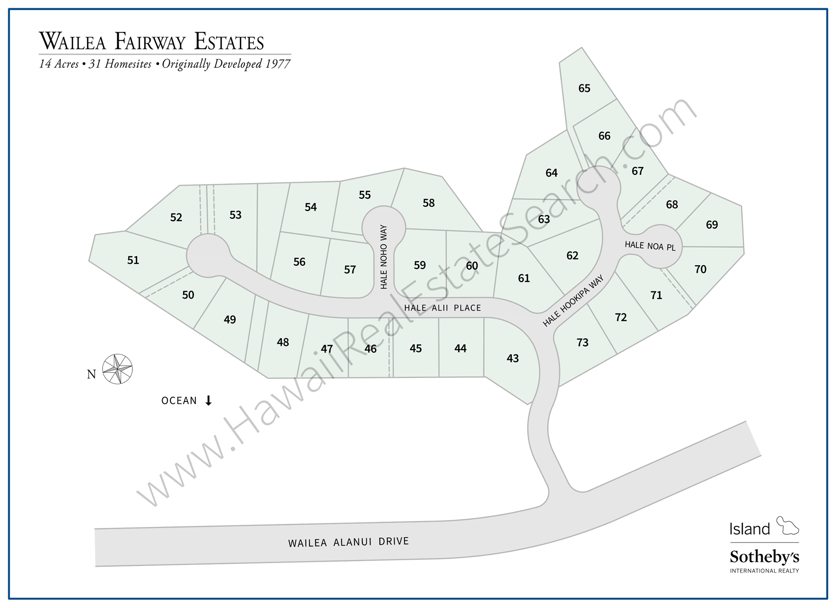 Wailea Fairway Estates Map