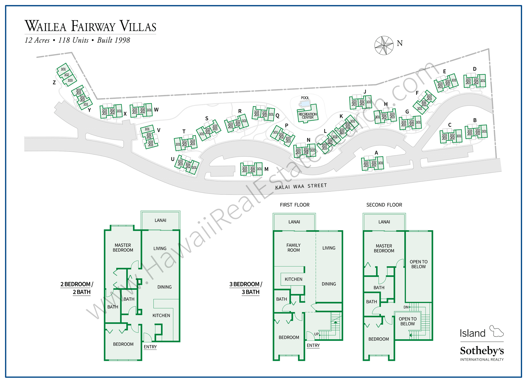 Wailea Fairway Villas Property Map