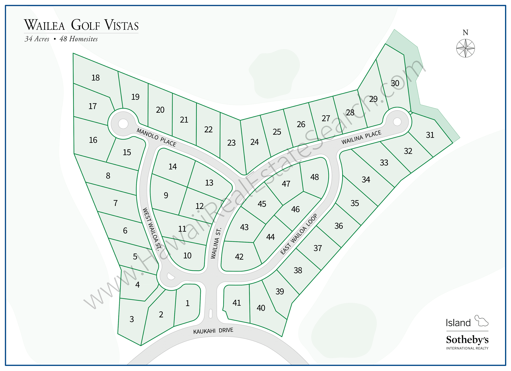 Wailea Golf Vistas Map Updated 2018