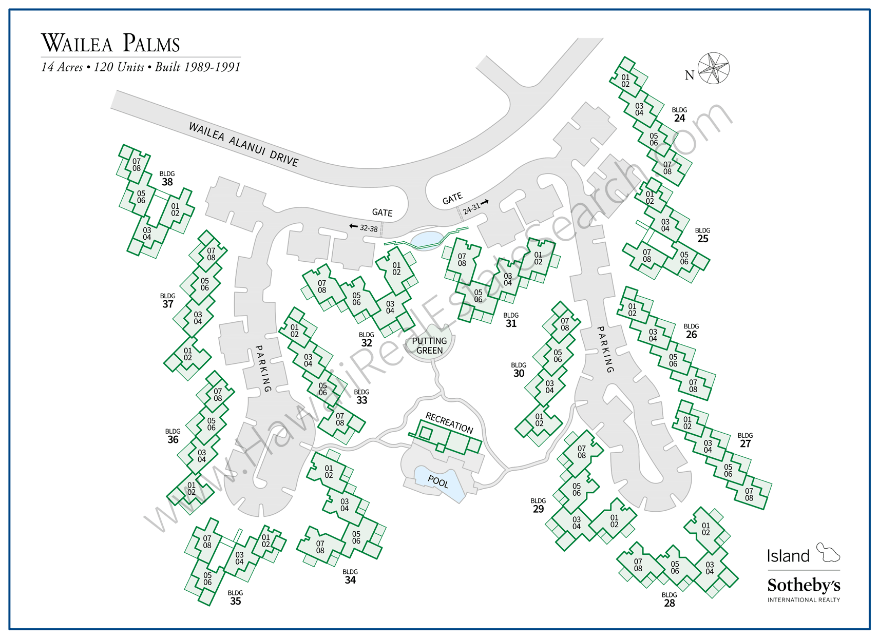 Wailea Palms Property Map Updated 2018