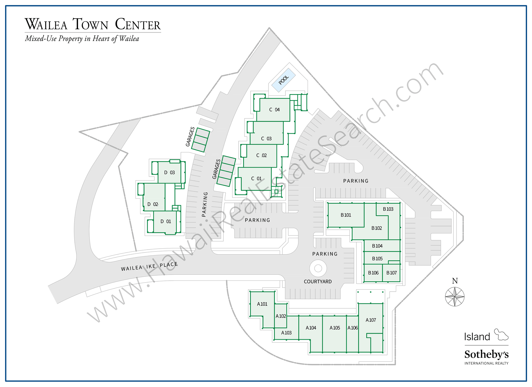 Wailea Town Center Property Map 2018