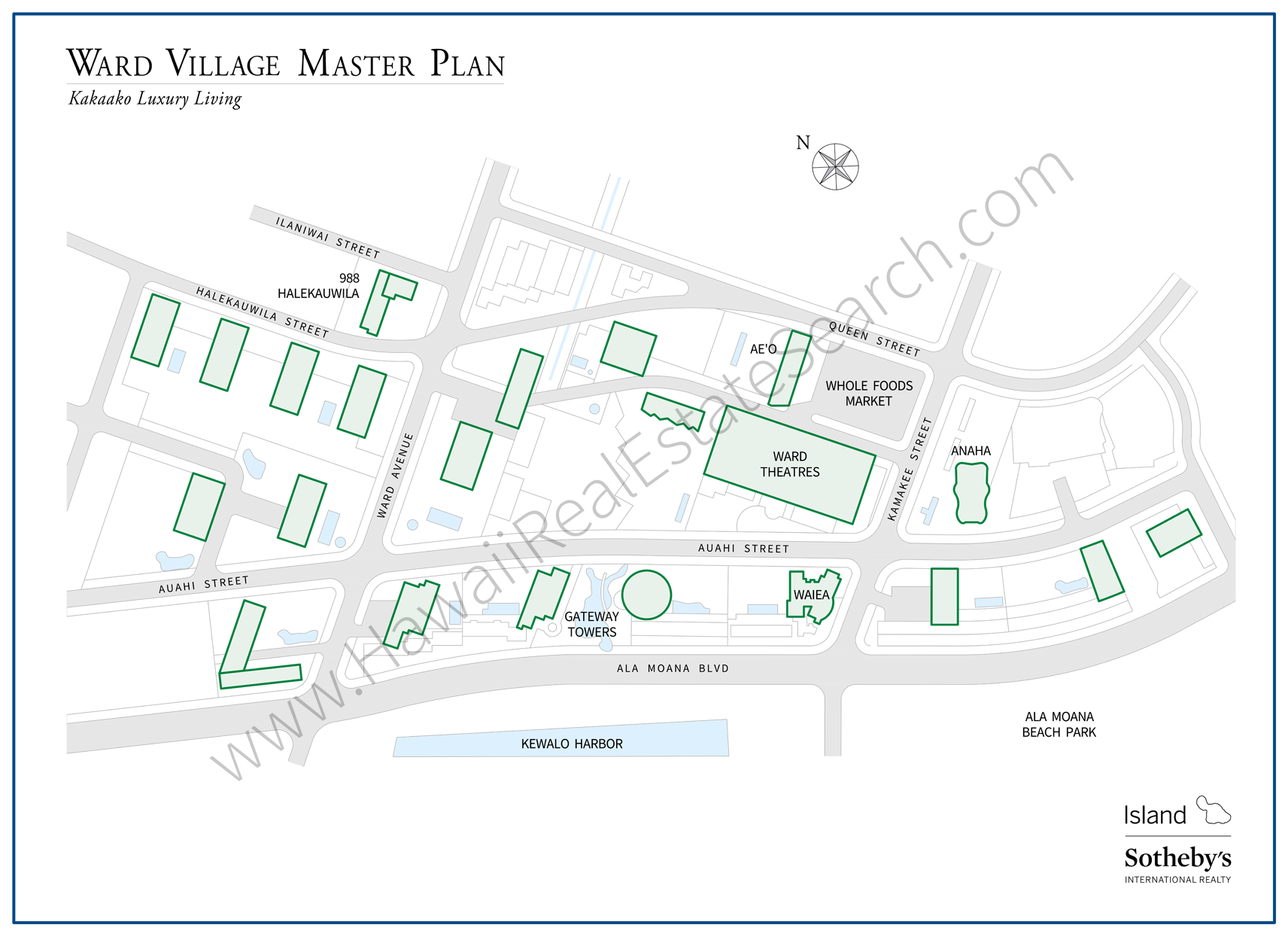 ward village master map