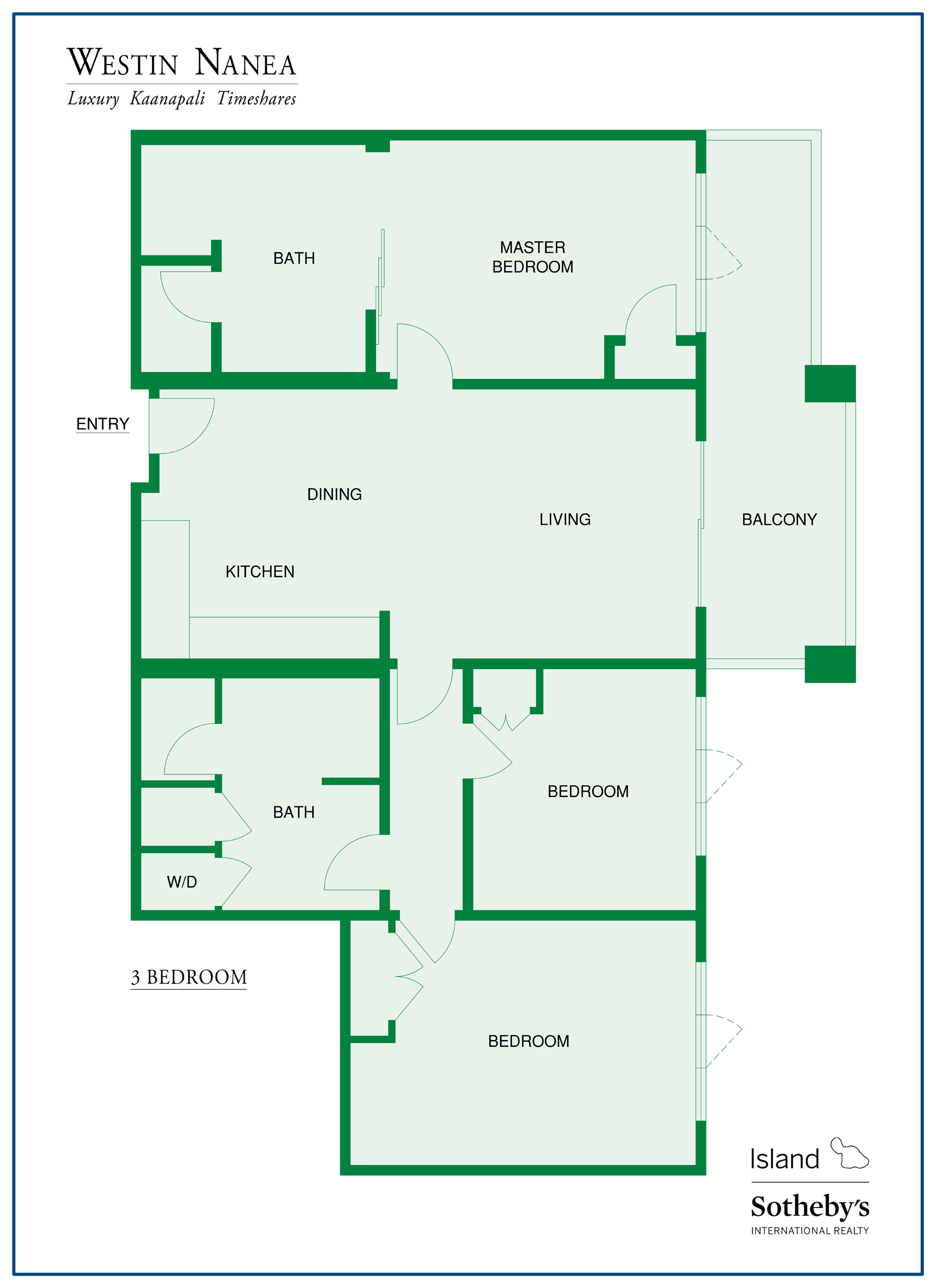 One Bedroom Unit Layout