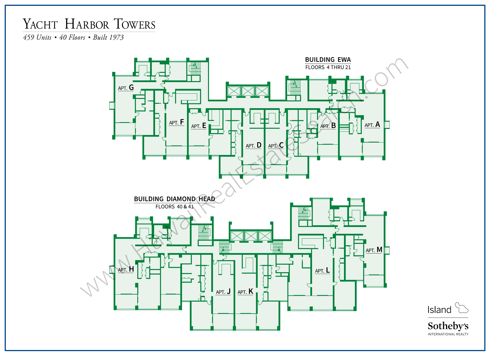 Yacht Harbor Towers Map Updated