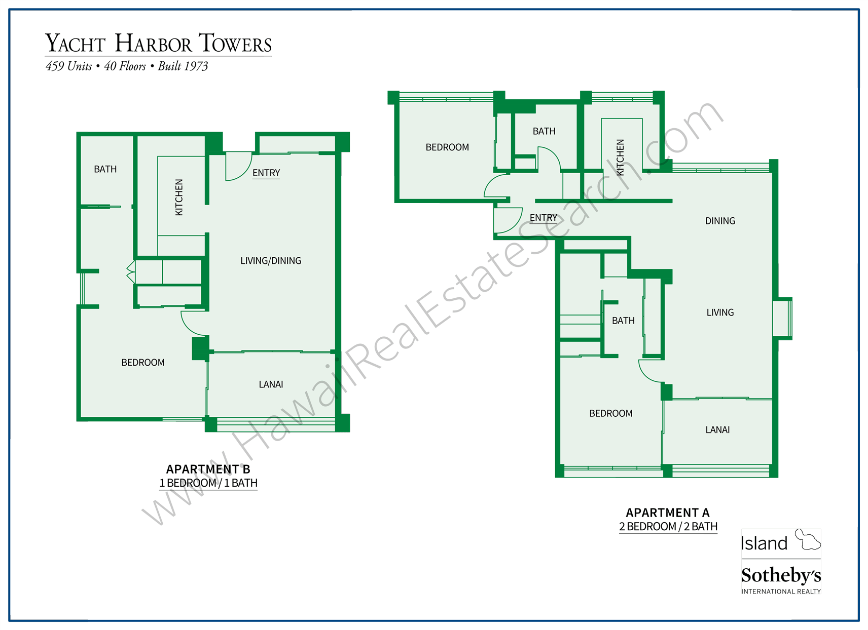 Yacht Harbor Towers Floorplans