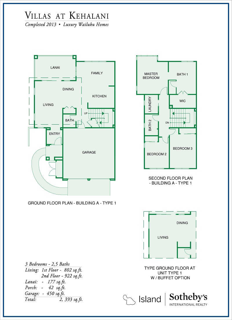 villas at kehalani wailuku floor plan
