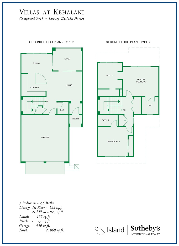 villas at kehalani floor plan