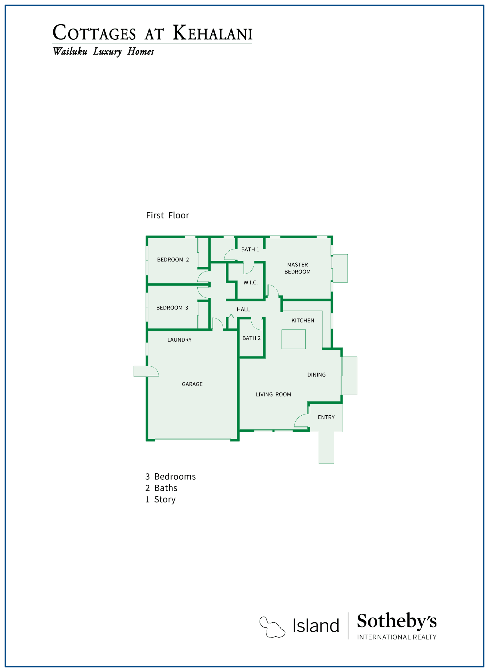 Cottages at Kehalani Floor Plan
