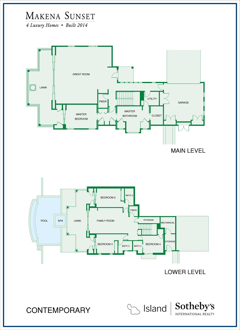 floor plan for makena sunset home