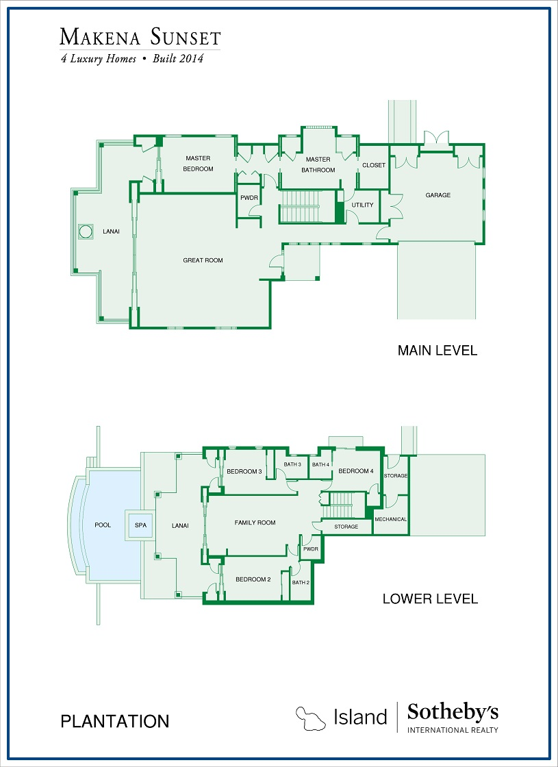 sunset makena site floor plan