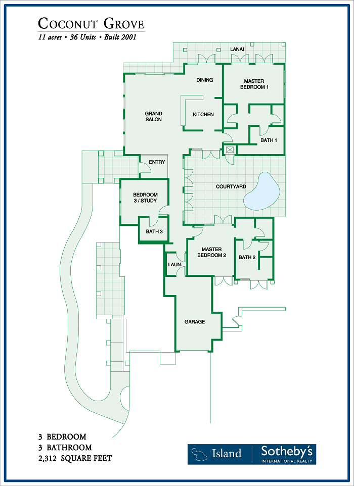 Kapalua's Coconut Grove Floor Plan