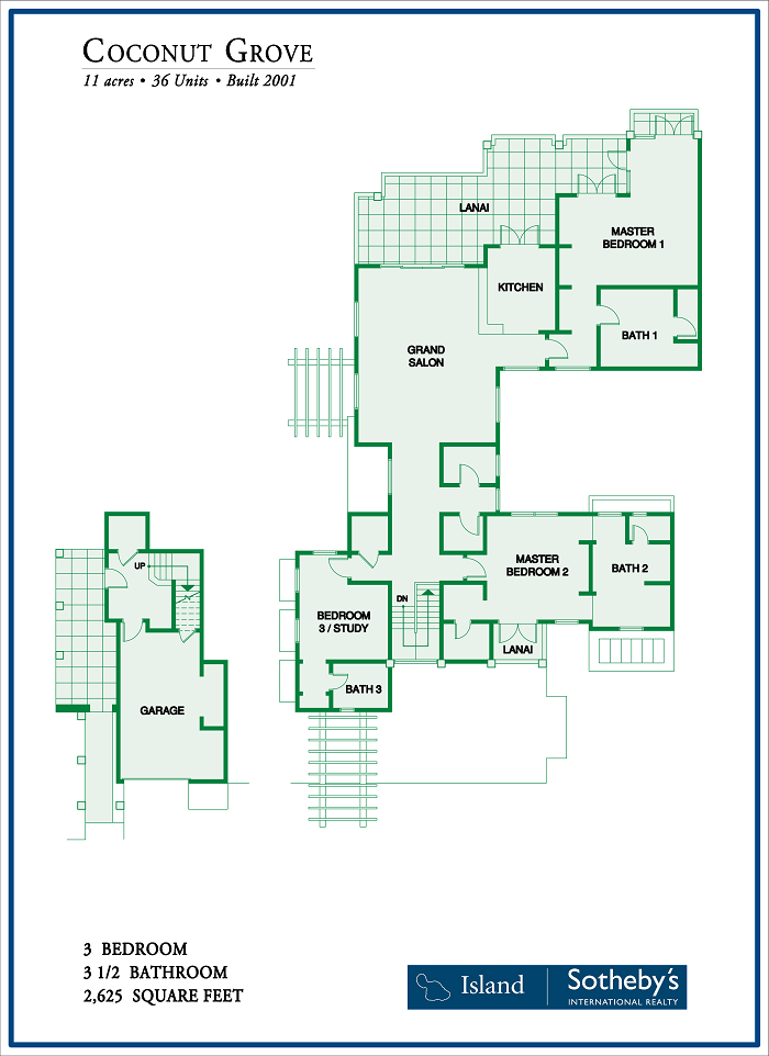 Coconut Grove Maui Floor Plan