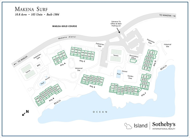 makena surf map