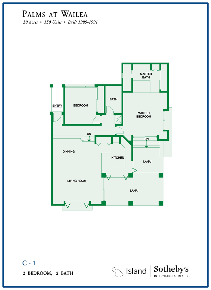 floor plan palms at wailea