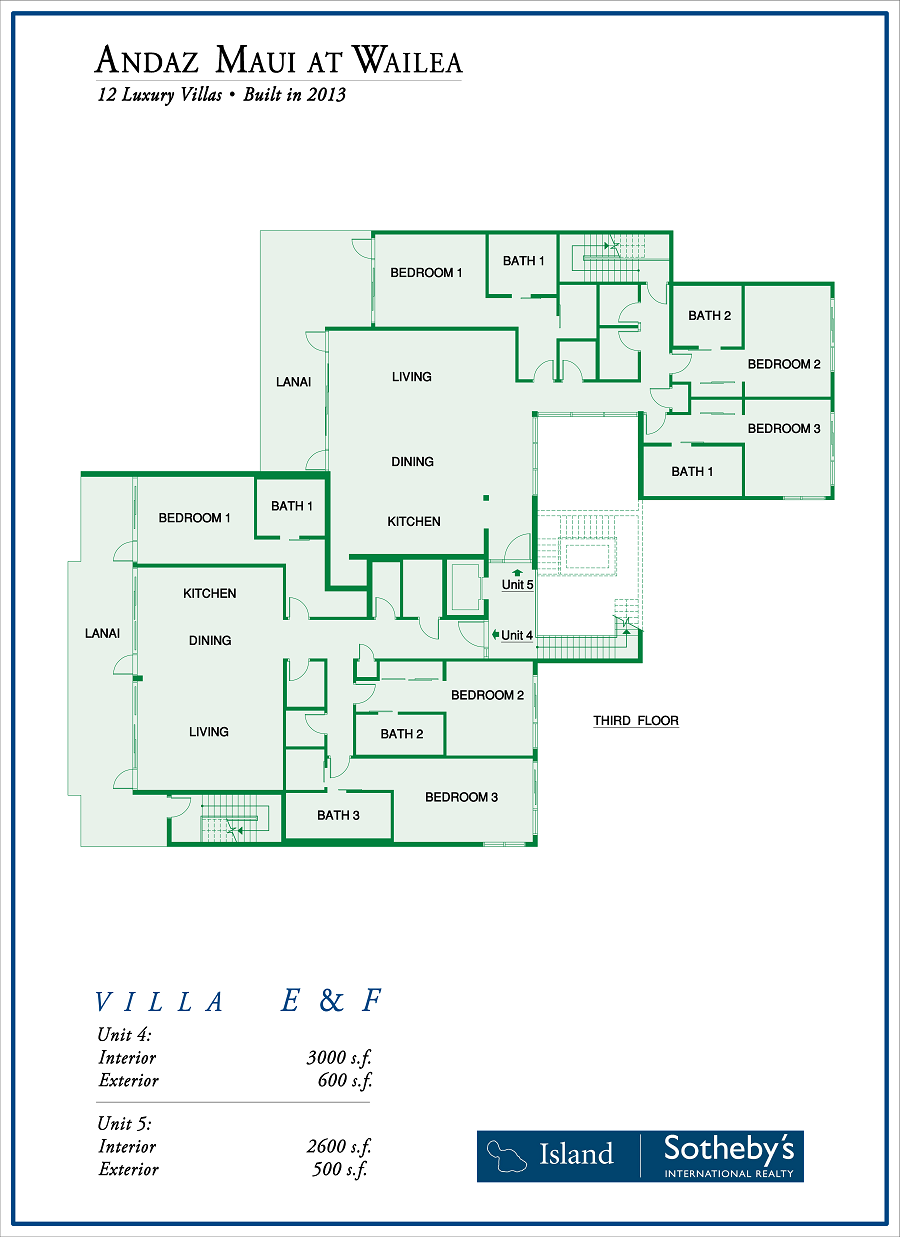 wailea andaz interior floor plan