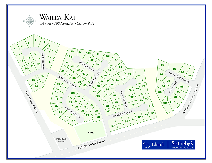 wailea kai map
