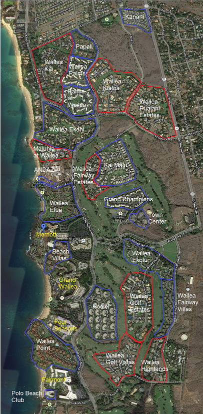 wailea real estate map
