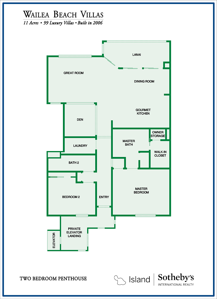 beach villas floor plan